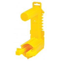 Harris Industries - TTD02 - Barricade Tape Dispenser, Yellow, Holds 3 x 1000 ft. Roll, 1 EA
