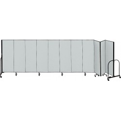 Screenflex - CFSL4011 GREY - 20 ft. 5 x 4 ft., 11-Panel Portable Room Divider, Gray