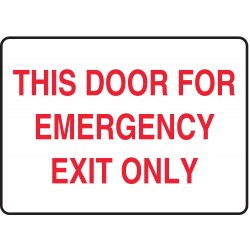 Accuform Signs - MEXT553VS - Fire Door Sign, 7 x 10In, R/WHT, ENG, Text