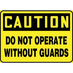 Accuform Signs - MEQC720VP - Caution Sign, 7 x 10In, BK/YEL, PLSTC, ENG