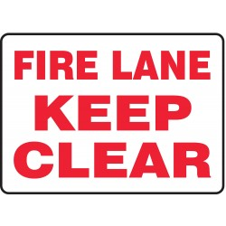 Accuform Signs - MVHR498VA - Fire Lane Sign, 10 x 14In, R/WHT, AL, ENG