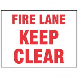 Accuform Signs - MVHR500VP - Fire Lane Sign, 7 x 10In, R/WHT, PLSTC, ENG