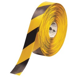 Mighty Line - 2RYCHEVRON - Floor Marking Tape, Striped, Continuous Roll, 2 Width, 1 EA