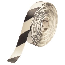 Mighty Line - 2RWCHEVRON - Floor Marking Tape, Striped, Continuous Roll, 2 Width, 1 EA