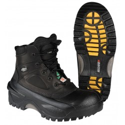 "Baffin - 7157-0236-001-10 - 6""H Men's Work Boots, Composite Toe Type, Leather Upper Material, Black, Size 10"