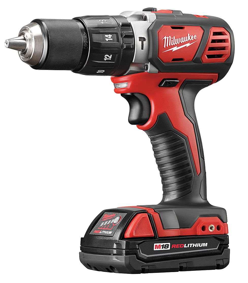 Milwaukee Electric Tool - 2607-22CT - Cordless Hammer Drill Kit, 18.0V, 1/2 In. at Sears.com