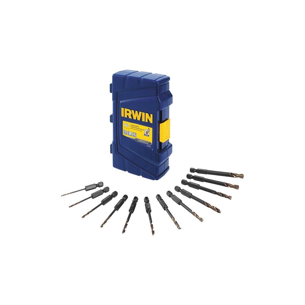 IRWIN INDUSTRIAL TOOL IRWIN Industrial Tool - 1881280 - Impact Ready Drill Bit Set, 12 pcs.
