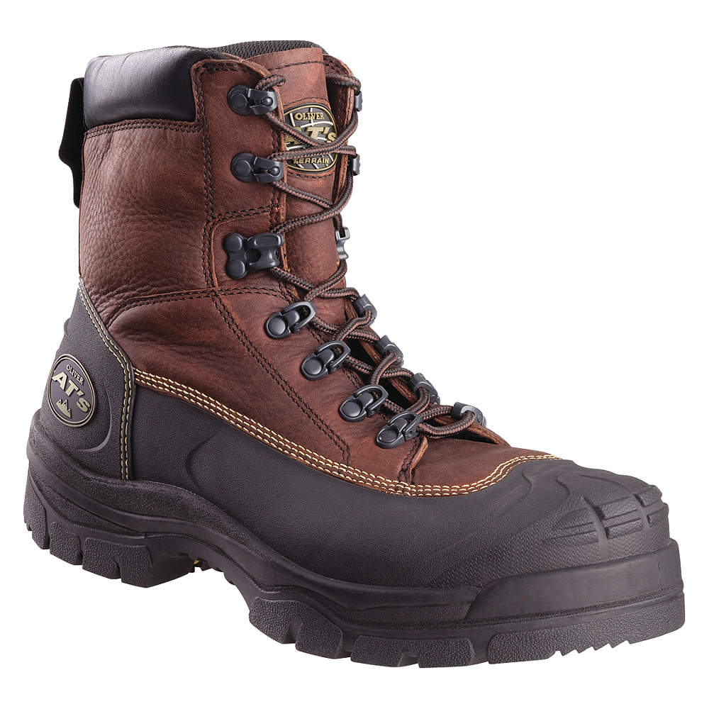 Oliver - 65394-BRN-090 - Work Boots, Size 9, Toe Type: Steel, PR