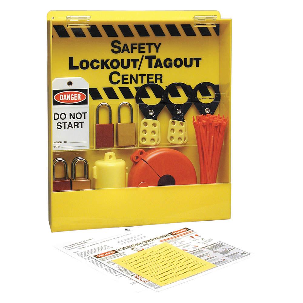 Brady - LC234E - Safety Lockout/Tagout Center, 6 Locks