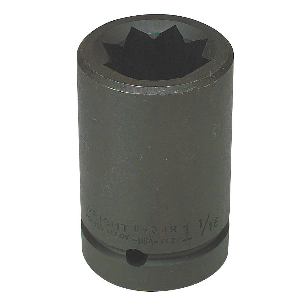 Wright Tool - 8942R - Impact Socket, 1 In Dr, 1-5/16 In, 8 pt