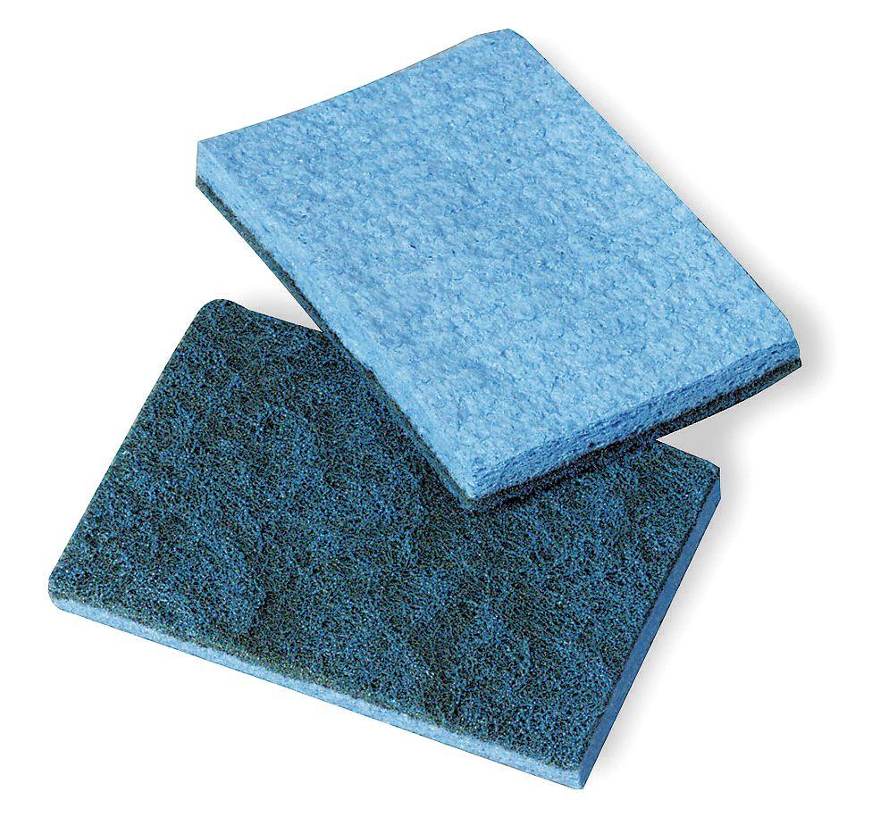3M - 9489 - Scrubber Sponge, Blue, 5In L, 5In W, PK40 at Sears.com