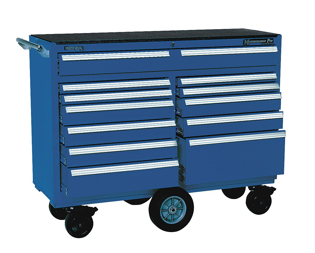 Kennedy - 5300MPBL - Tool Cart, 53 x 18 x 40-1/2 In, Blue at Sears.com