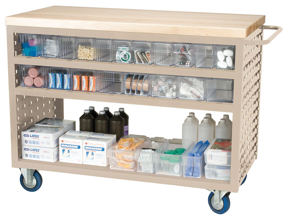 Akro-Mils / Myers Industries - MA4824P1CRY - Louvered Cart, Clear, 37-1/2 In. H at Sears.com
