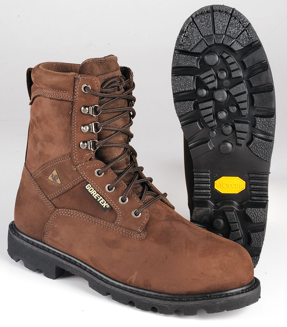 Rocky Shoes & Boots Rocky Shoes & Boots - 6223 14 WIDE - Work Boots, Stl, Mn, 14W, Brown, PR ...