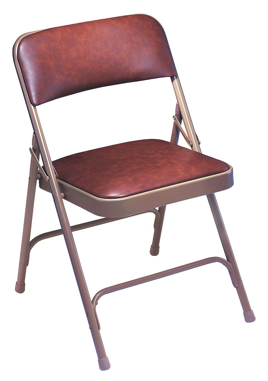 National Public Seating - 1202 - Folding Chair, Vinyl, Gray, PK4