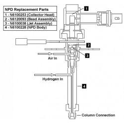 PerkinElmer - N6120090 - Nitrogen Phosphorus Detector (NPD) Add-On Kit for AutoSystem Series GCs, 120V