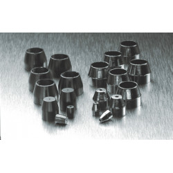 PerkinElmer - N9301361 - Vespel Packed Stainless Steel Column Ferrule, Nut Size: 1/4in, Inner Diameter: 1/4in, Pkg 10