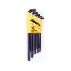 Bondhus - 16592 - Set of 7 Balldriver Stubby L-wrenches, sizes 1.5-6mm