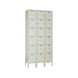 Lyon Workspace - 53623 - Lyon Metal 5362-3 Six Tier Locker Unit 36W x 18D x 72H overall