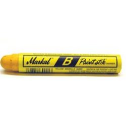 "Markal - 80221 - Paint Marker with 11/16"" Tip Size and 12 to 24 hr. Dry Time, Yellow&#x3b; PK12"
