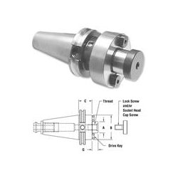 Parlec - C40-15SM4 - Shell Mill Holder, CAT40, Pilot Dia 1.5 In