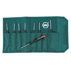 Wiha Quality Tools - 26799 - CVM Steel Precision Screwdriver Set&#x3b; Number of Pieces: 8