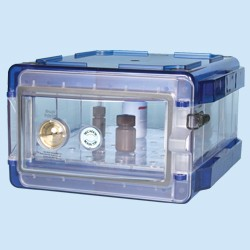 Bel-Art - 420710006 - Secador 1.0 Desiccator Cab, Blue End Caps