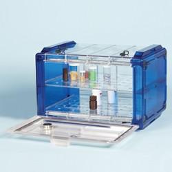 Bel-Art - 420740006 - Secador 4.0 Desiccator, Horiz, Blue Caps