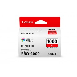 Canon - 0554C002 - Canon LUCIA PRO PFI-1000 Original Ink Cartridge - Red - Inkjet - 5355 Photos