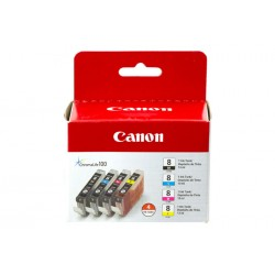 Canon - 0620B010 - CLI-8 Black, Cyan, Magenta Yellow 4 Ink Pack