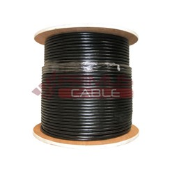Primus Cable - C5CMXFS-2279BK - Primus Gel-Filled Shielded CAT5E 350MHz Outdoor Direct Burial Ethernet Cable Black 1000 Ft