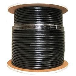Primus Cable - C5CMXSM-3203 - Primus CAT5e Cable 350Mhz Outdoor Shielded Aerial Messenger 1000 Ft. Black (wooden spool)