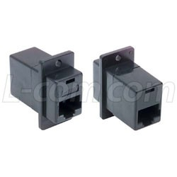 L-Com Global Connectivity - ECF504B-8SK - In-Line Adaptor, RJ45, Jack, 8 Positions, RJ45, Receptacle, 8 Positions