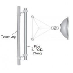 Rohn Products - S30um - Rohn S30um Mount, Dish, Straight 3' Leg, With 5' Pipe