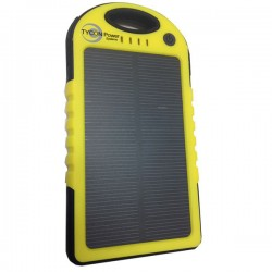 Tycon Power Systems - TPB-5-SOLAR - Tycon Power TPB-5-SOLAR 5000mAh Dual Output, Dual Input, Weatherproof Solar PowerBank, 5.6x3x0.5' 1lb