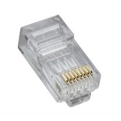 Platinum Tools - 106168J - Platinum Tools 106168J Modular Plug, RJ45, High Performance, Cat 5e, Round Solid