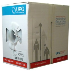 Upgi - 222SH-1000WH-UPG - 222sh-1000wh 22-2 Shielded W/ Drain 1000' Box Wh