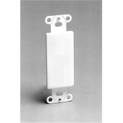 Calrad - 28114P - White Blank Insert Plate Decra Wall Jacks