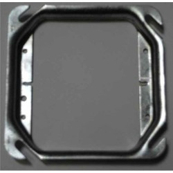 Thomas & Betts - 52 C 17-25 - Steel City 52C17-25 4 Square Cover, 2-Device, Mud Ring, 1/2 Raised, Drawn, Metallic