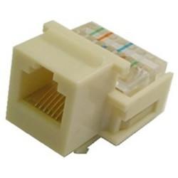 Calrad - 72100WH - Calrad 72-100-WH Keystone Modular 6 Conductor Jack White