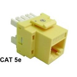 Calrad - 72102WHE - Rj45 Cat5e Keystone Insert White