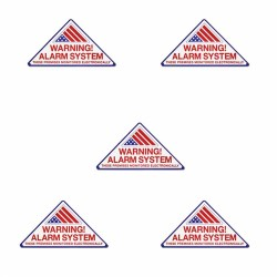 Elk Products - 99805 - Elk Warning Alarm System Decals 5 Pack