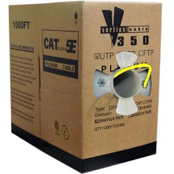 Vertical Cable - CAT5EPLYL - Yel Cat5e 350mhz Plenum 1000' Box