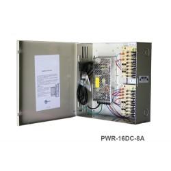 IC Realtime - PWR-16DC-8A - IC Realtime PWR-16DC-8A Proprietary Power Supply - 120 V AC Input Voltage - 12 V DC Output Voltage - Box
