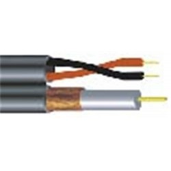 Vertical Cable - RG59182WH - Rg59 Coax With 18-2 White 500' Box