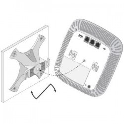 Aruba Networks - AP-220-MNT-W1 - 220 Series Access Point Flat-surface (Wall) Mount Kit (Basic). Color: Black