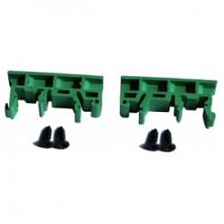 Tycon Power Systems - DIN-CLIPKIT-UNI - Tycon Power Green DIN Rail Clip Kit - 2 DIN Rail Clips and Screws
