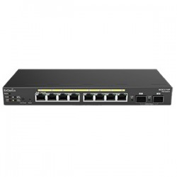EnGenius - EGS2110P - EnGenius 8-Port Gigabit Smart Switch 2 SFP Ports - Manageable - 2 Layer Supported - Wall Mountable - 1 Year Limited Warranty