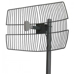 Laird Technologies - GD24-24P-NF-EZ - 24dBi 2.4GHz Wire Grid Antenna (30 LMR(R)240 pigtail with N-Female, N-Male or RPSMA connector), Dimensions: 34x28