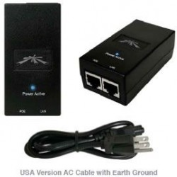 Ubiquiti Networks - POE-24-24W - Ubiquiti POE-24-24W Power over Ethernet Injector - 110 V AC, 220 V AC Input - 24 V DC, 1 A Output - 1 Ethernet Input Port(s) - 1 Ethernet Output Port(s) - 24 W